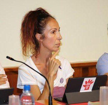 Maite Gorriz concejal de Lanzarote en Pie en el Ayuntamiento de San Bartolomé